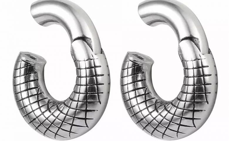 Steel ear hangers by Angel Body Jewellery